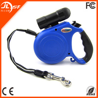 Portable High Quality 5M Retractable Dog Leash with Strong Light LED Flashlight