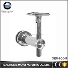 Free sample MOQ=10pcs low price exterior removeable handrail glass wall bracket