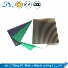 plastic building material solid hollow embossed corrugated polycarbonate panels pc roofing sheet greenhouse