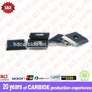 Four-sided single hole square tungsten carbide planer blade