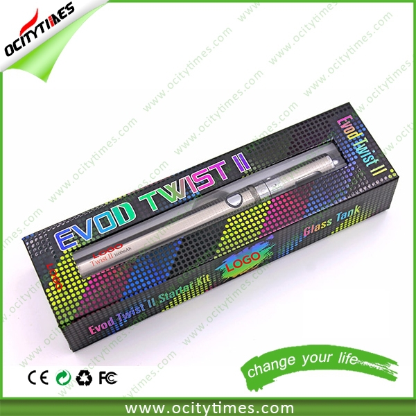 2015 High Quality Factory OEM Evod Twist2 Big Vapor NO Nicotine E Cigarette