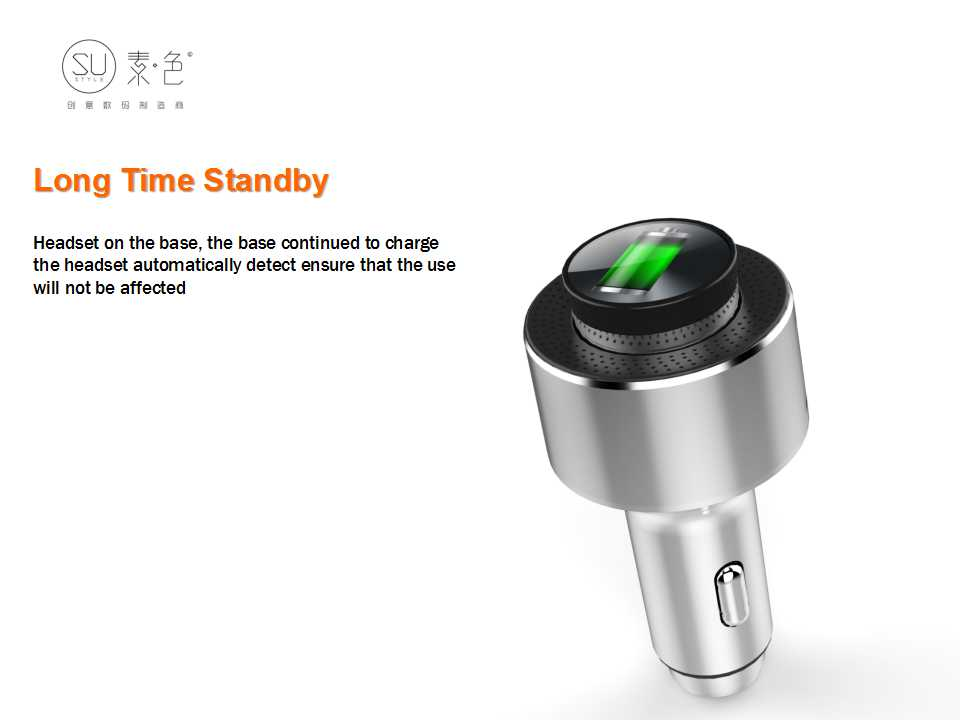 Sutyle SU-S30 Car Charger with Bluetooth Headset and Safety Hammer function car battery charger