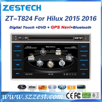 ZESTECH Factory 8'' car stereo for Toyota Hilux 2015 2016 2 din car stereo gps with DVD+Bluetooth+MAP+Rearview Camera+Radio+3G