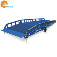 Mobile Used Aluminum Hydraulic Lift Container Unloading Load Loading Dock Ramp For Motorcycle Truck Wheelchair Forklift Cattle