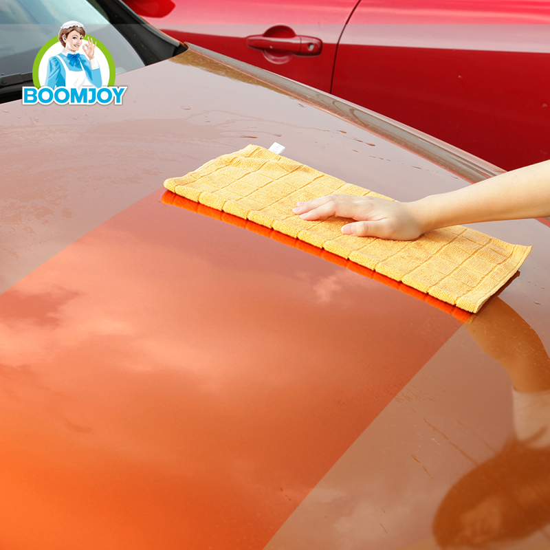 High quality reusable and ultra soft superfine fiber car cleaning cloth with strong decontamination