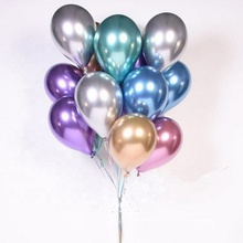 Wholesale Party Decorations Chrome Helium <strong>12</strong>&quot; 2.8g Sliver Gold 12inch Thick Metallic Natural Latex balloon /baloon/ ballon