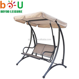 Boyoo 2-seat Person Patio Swings With Canopy Hammock Chair Awning Garden Outdoor