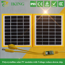 High quality 3.4w 9v poly small solar panel with plastic frame foldable type