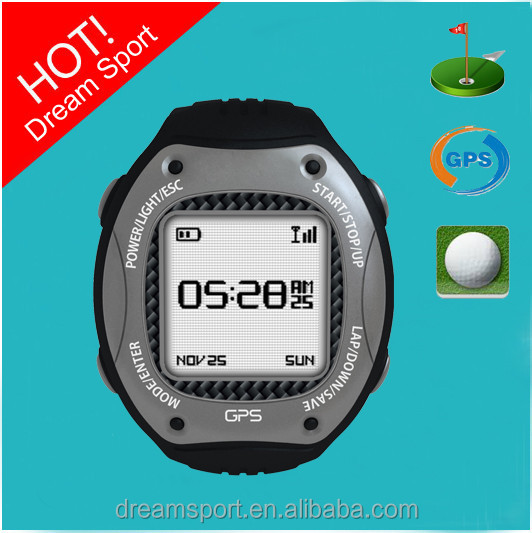 Portable Golf Rangefinder Watch Hole Information Shot Distance Golf Score Card Watch