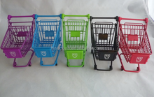 Factory supplier colorful coating desk mini shopping cart