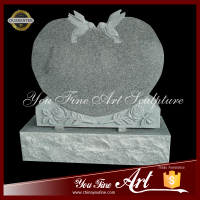 Wholesale Polished Carving Flower Granite Tombstone