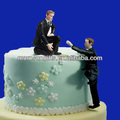 New Designed Polyresin Gay Male Sex Dolls for Cake Topper
