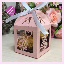 Laser cut wedding table gift eco-friendly small gifts for wedding guests with lovely bear TH-209