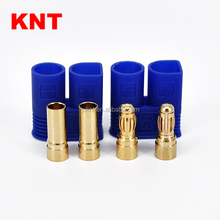 KNT KT-0118 Gold Plated Plug Male Female With Blue Plastic Protector EC3 Connector
