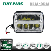 Competitive price 5x7 rectangle LED sealed beam headlight hi low beam head lamp for truck Jeep motorcycle