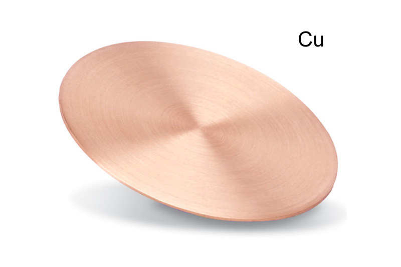 Copper Backing Plate for Sputtering Targets