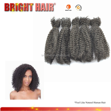 new products 2016 natural hair mix synthetic kinky curly afro hair weave,human and synthetic blend hair