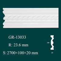 European- style Environmental Decorative PU Carved Foam Cornice Molding