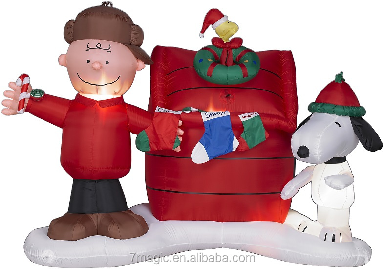 Snoopy, Charlie Brown, Woodstock Christmas Inflatable