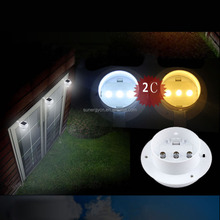 outdoor outside garden portable wall fence solar gutter garden lighting