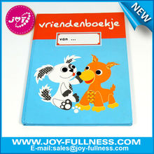 Hard cover friendship note book