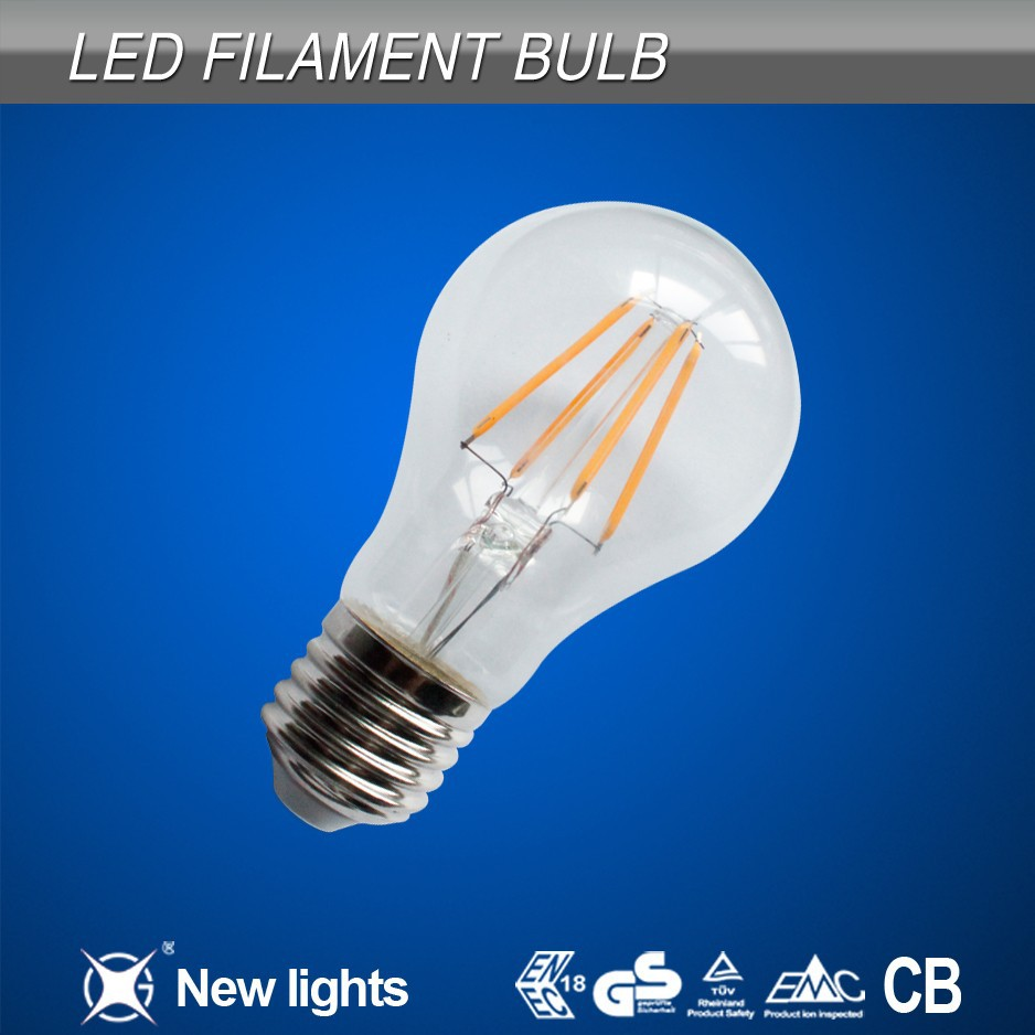 Hot New style led filament bulb, filament led bulb, filament candle E14 E27