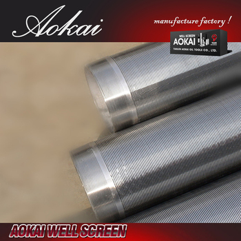 sand johnson stainless steel water well wedge wire screen tube or pipe AK with ISO9001