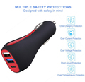 30W 3 Port Qc3.0 Dc 5V 3A Max With 5V 2.4A Usb-C Port Usb Quick Car Charger