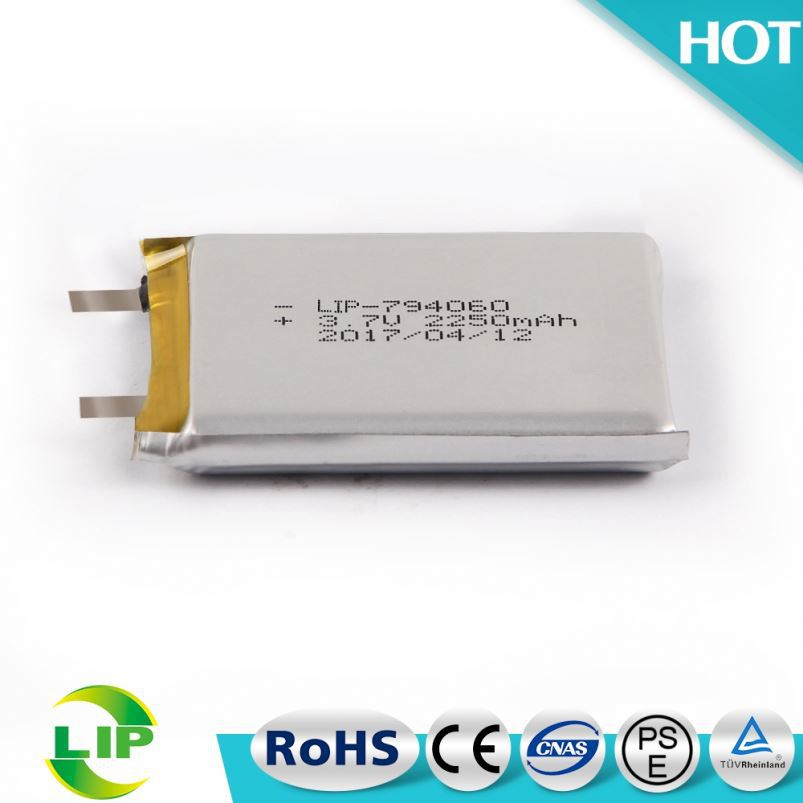 3.7V 2250mah li ion battery 794060 New Design Special Shape Rechargeable Polymer Battery For S6