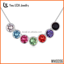 2015 Latest Bead Necklace , Fashion Colorful Crystal Necklace Jewlery