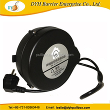 European extension power cable reel with european 2 pole plug