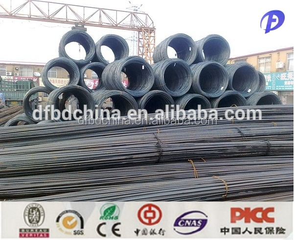 China supply epoxy coated steel rebar, steel rebar price