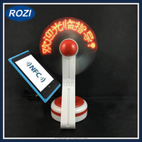 NFC Editable Message Text Flashing Led Fan for Smartphone
