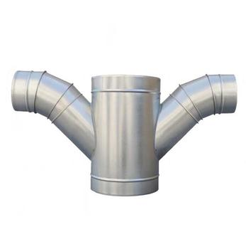45 degree 3way Y Duct Branch Pipe