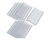 clear PVC Job card sleeve with Slot and Chain Holes