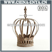 Metal decoration/decorative porcelain crown/Antique Metal