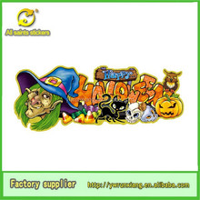 3D Glitter Paper Removable Halloween Witch Faces Stickers, Halloween pumpkin Decorations Sale