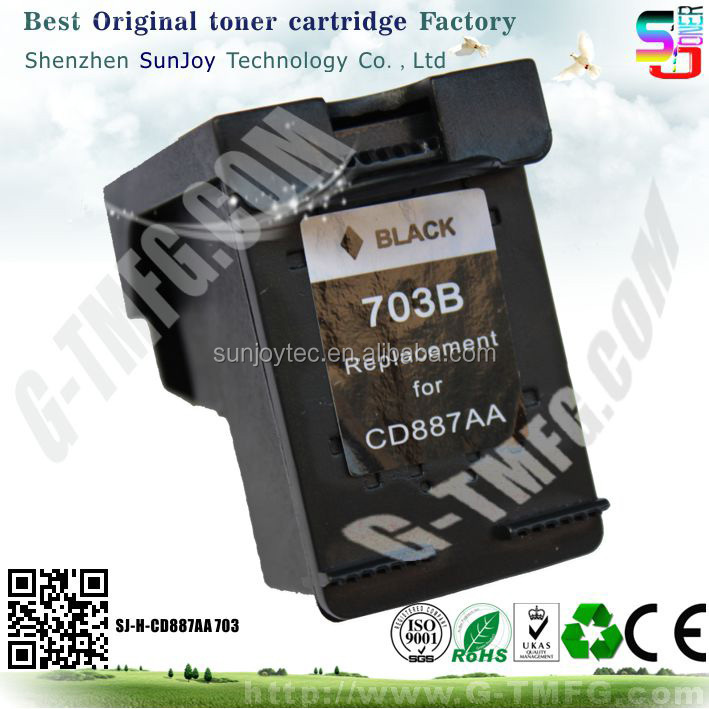 Wholesale Printer Ink Cartridge Compatible CD887AA 703 for HP Deskjet Ink Advantage All-in-One Printer - K209a(CH368A)