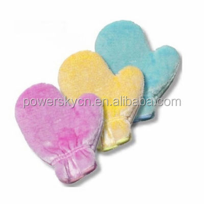100% wood fiber Material Cosmetic Glove/Facial Mitt/Make Up Remover