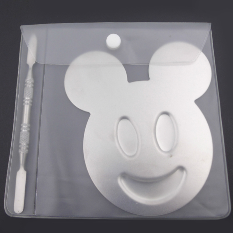 Multi-use Mickey Mouse shape eyeshadow nail branded stainless steel makeup palette
