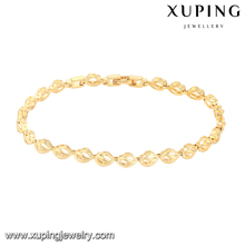 74431 xuping costume jewels fashion design yellow gold copper alloy bangles and bracelets for women