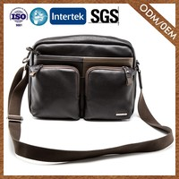 Factory Direct Sales Hot New Products Custom Genuine Leather Man Bag Laptop Messenger Bags
