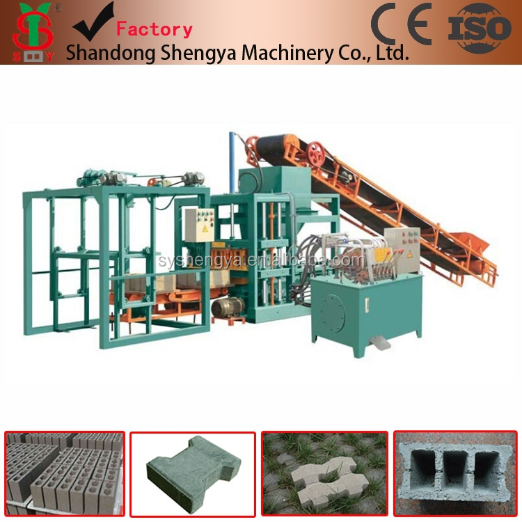 QT4-20 automatic coal ash cement brick making machine prices, hydraulic concrete block machines