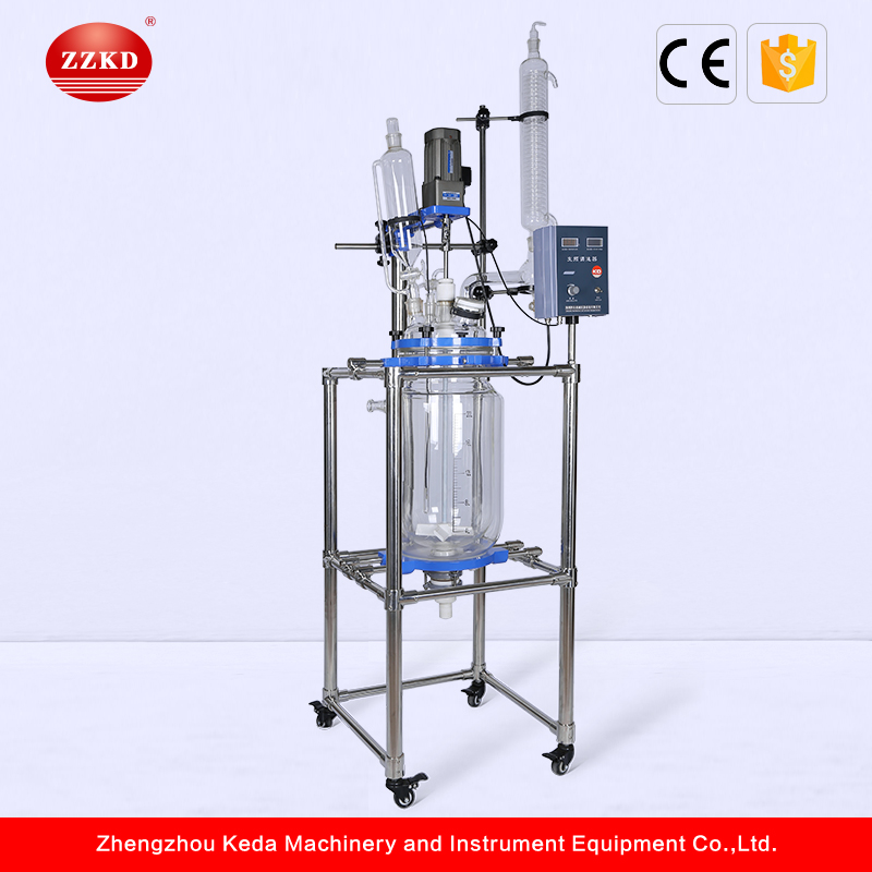 ZZKD 20L Jacketed Electrical Heating Glass Lined Reactor
