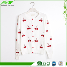 Factory Supplier Wool Handmade Sweater Design For Girl Women'S Cardigan Sweaters