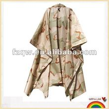 Tri-Color Desert Camouflage GI Enhanced Rip-Stop Poncho