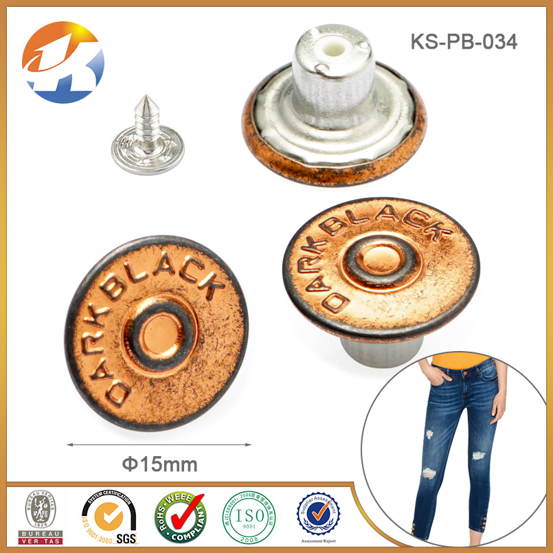 New fashion Clothing metal vintage buttons