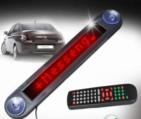 Hot Selling LED Car Display DC12V Red color 7*40dots programming led moving sign for indoor use only