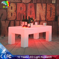 Remote control plastic square table led glowing cube tables
