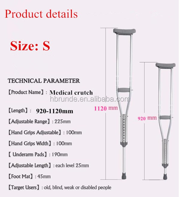 Runde High quality Adjustable folding crutch distabled crutch underarm crutch for disabled persons
